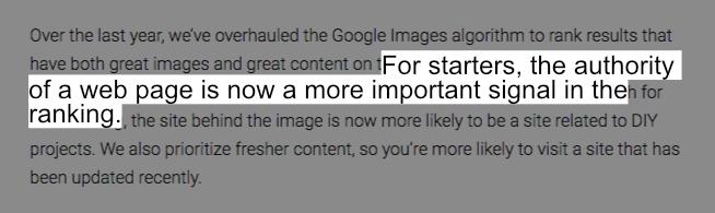 Google vil fremhæve billeder fra autoritære websider - billede SEO