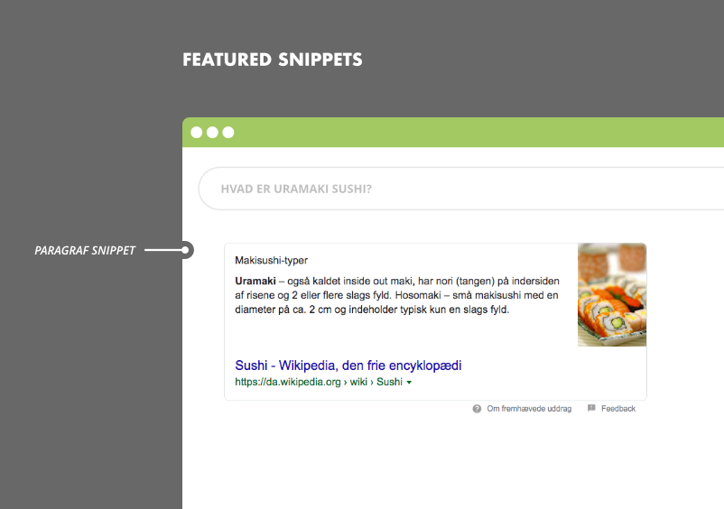 Featured snippets i Google