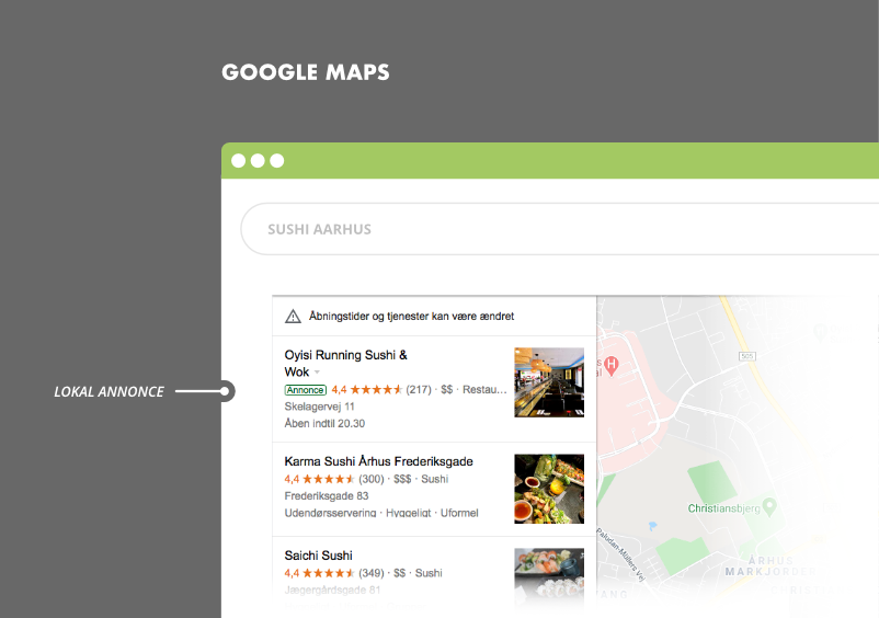 Annonce i Google Maps