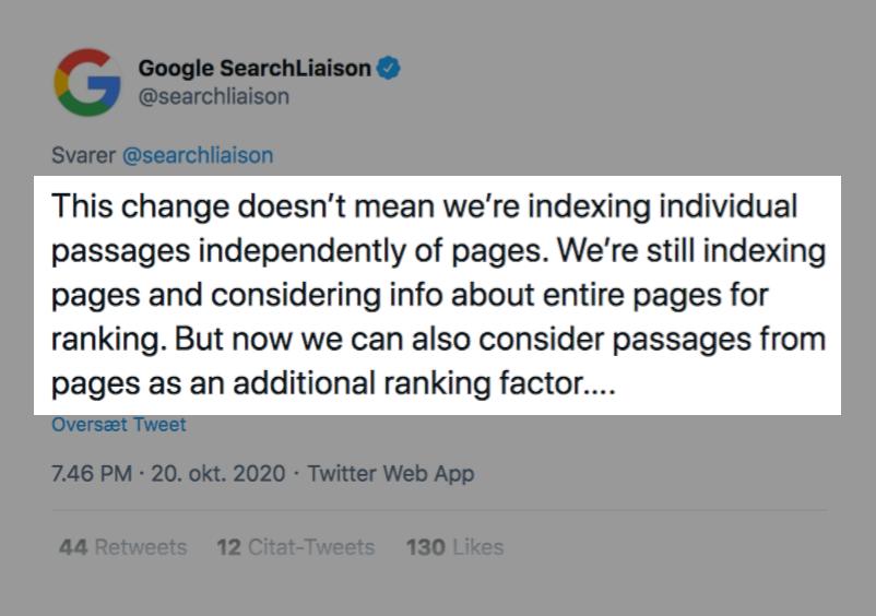 Google Passages Ranking