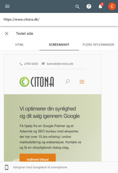 Googlebot smartphone i Google Search Console