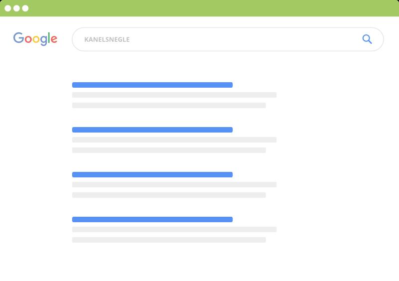 Google søgning på emne