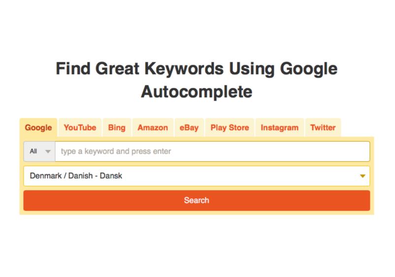 Find søgeord med KeywordTool.io