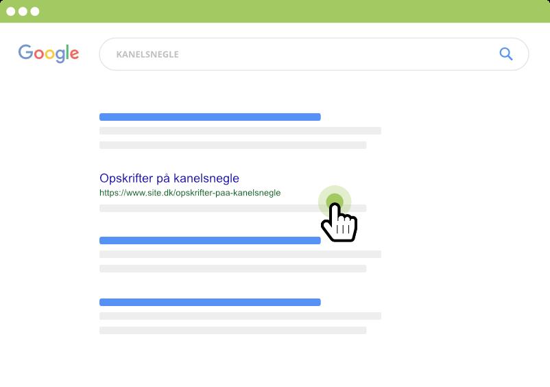 Klik på andet søgeresultat i Google