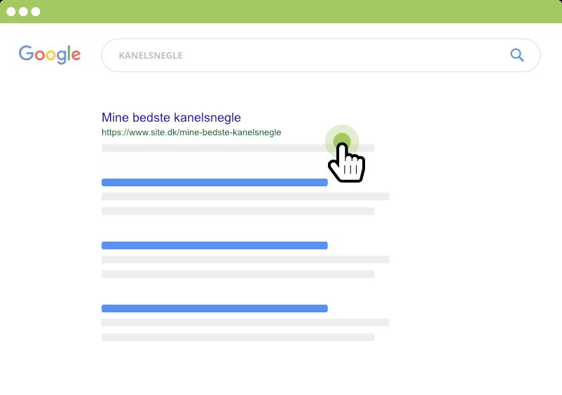 Klik på første søgeresultat i Google