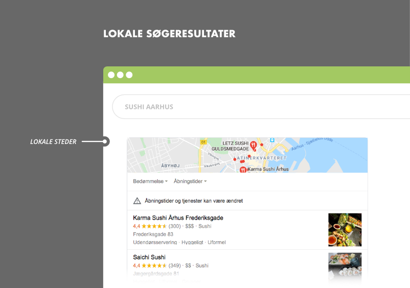 Lokale søgeresultater i Google