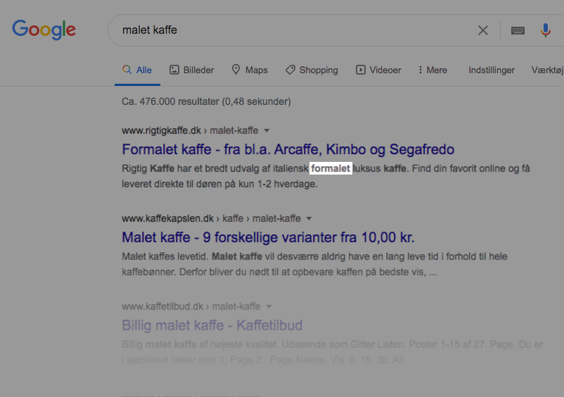 LSI søgeord i meta description
