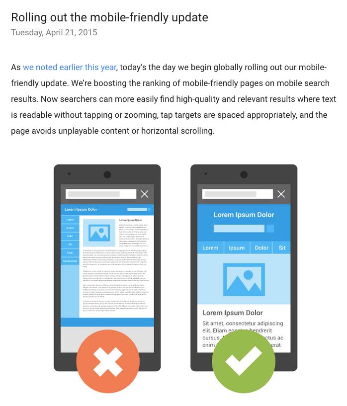 Google ruller deres Mobile Friendly update ud