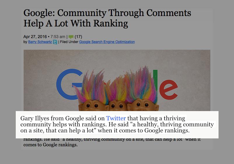 Netværk kan hjælpe Google rankings