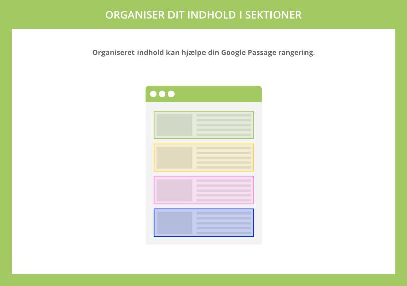 Organiseret indhold kan hjælpe din Google Passage Ranking