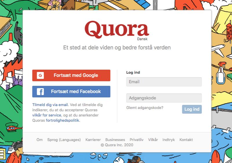 Find søgeord med Quora