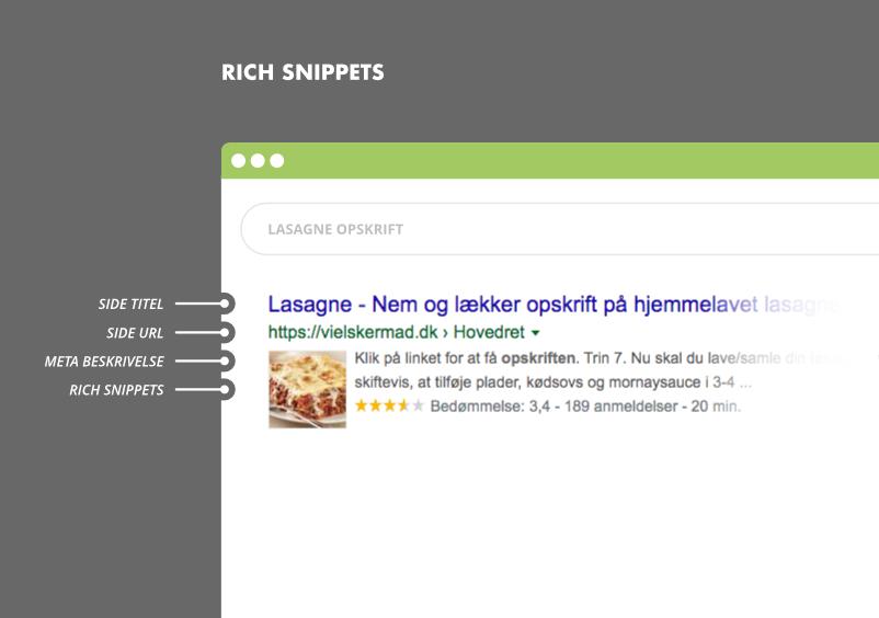 Rich snippets søgeresultater i Google