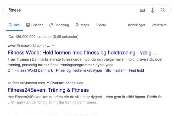 Søgehensigt i Google