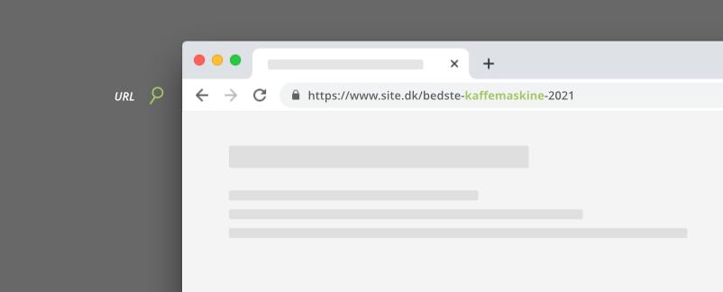 Søgeord i webside URL
