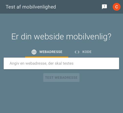Test af mobilvenlighed