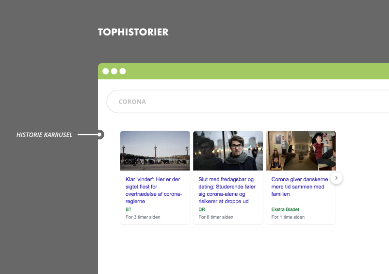Tophistorier i Google