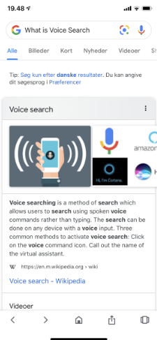 Voice search på Google