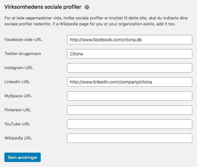 Forbind dine sociale profiler til dit website med Yoast social